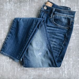 Free People Driftwood Distressed Mid-rise Jeans